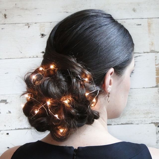 This Sparkling Updo Takes Holiday Hair to the Next Level - GoodHousekeeping.com