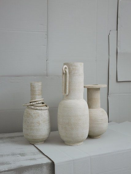 With his whitewashed water jugs, the Los Angeles-based ceramist Eric Roinestad nods to the past.