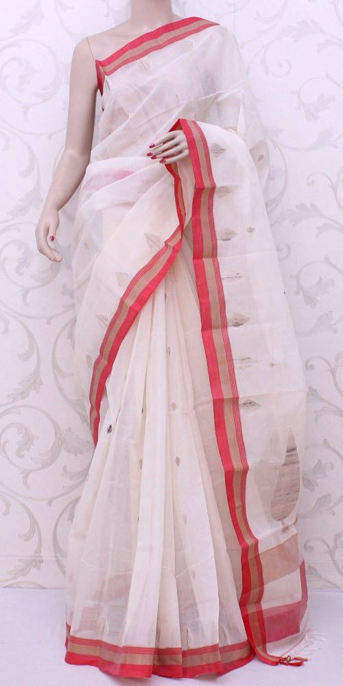 Bengal Handloom Tant Saree (W/B-Cotton) 13136