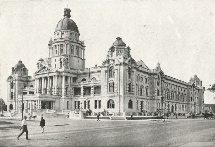 The Town Hall, from the Royal Hotel, Durban. ca. 1920