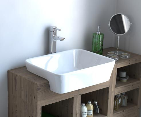 A stunning inset vanity basin, part of the exclusive Chambers Signature Collection.