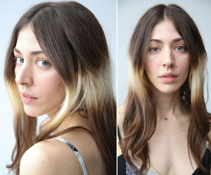 This is vocalist Caroline Polachek of Chairlift. HAIR: Color-Blocking - - i like!