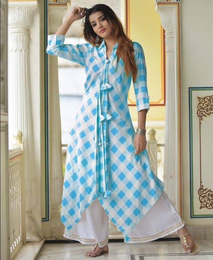 6f385fca2 Beautiful Cotton Kurti with brilliant detailing. | Kurtis | Kurti sleeves  design, Pakistani dresses casual, Kurti styles