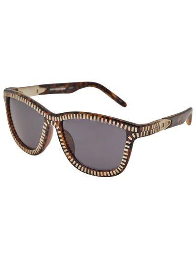 5706bf8362bf Alexander Wang by Linda Farrow x zipper framed sunglasses in brown tortoise