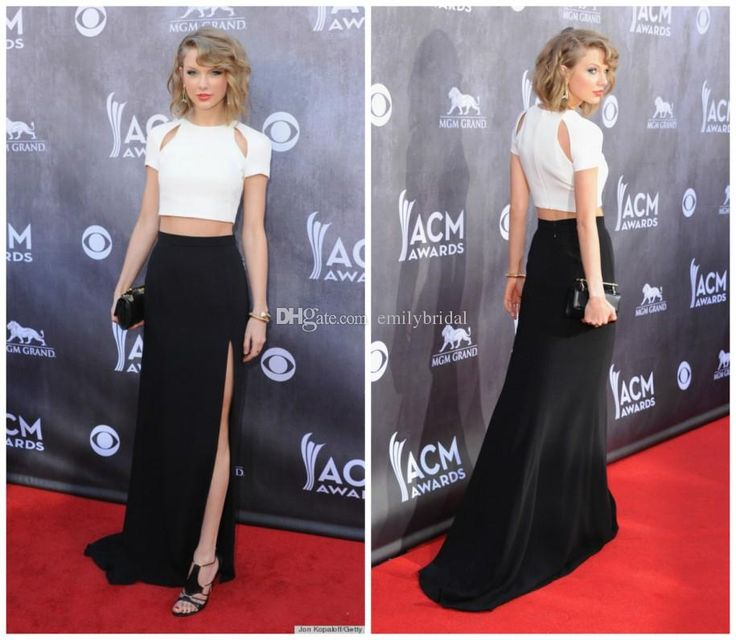 2015 Red Carpet Dresses Two Pieces Party Evening Dresses With Jewel Short Sleeve Zipper Sweep Train And Side Split Taylor Swift Prom Dresses Childrens Prom Dresses Couture Prom Dresses From Emilybridal, $83.77  Dhgate.Com