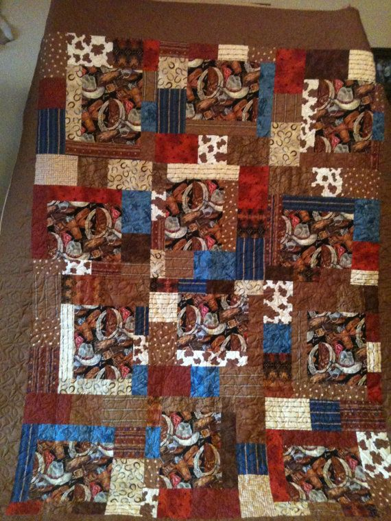Western quilt.  In lots of colors. by FrostysQuilts on Etsy, $350.00