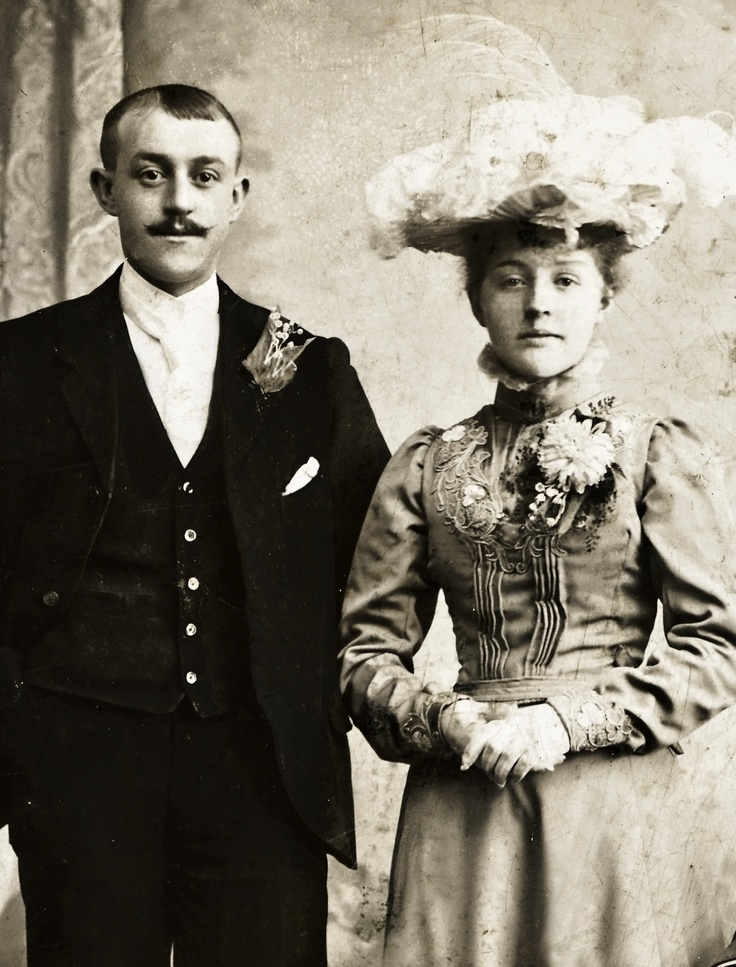 My great-grandparents on their wedding day, October 30th 1902