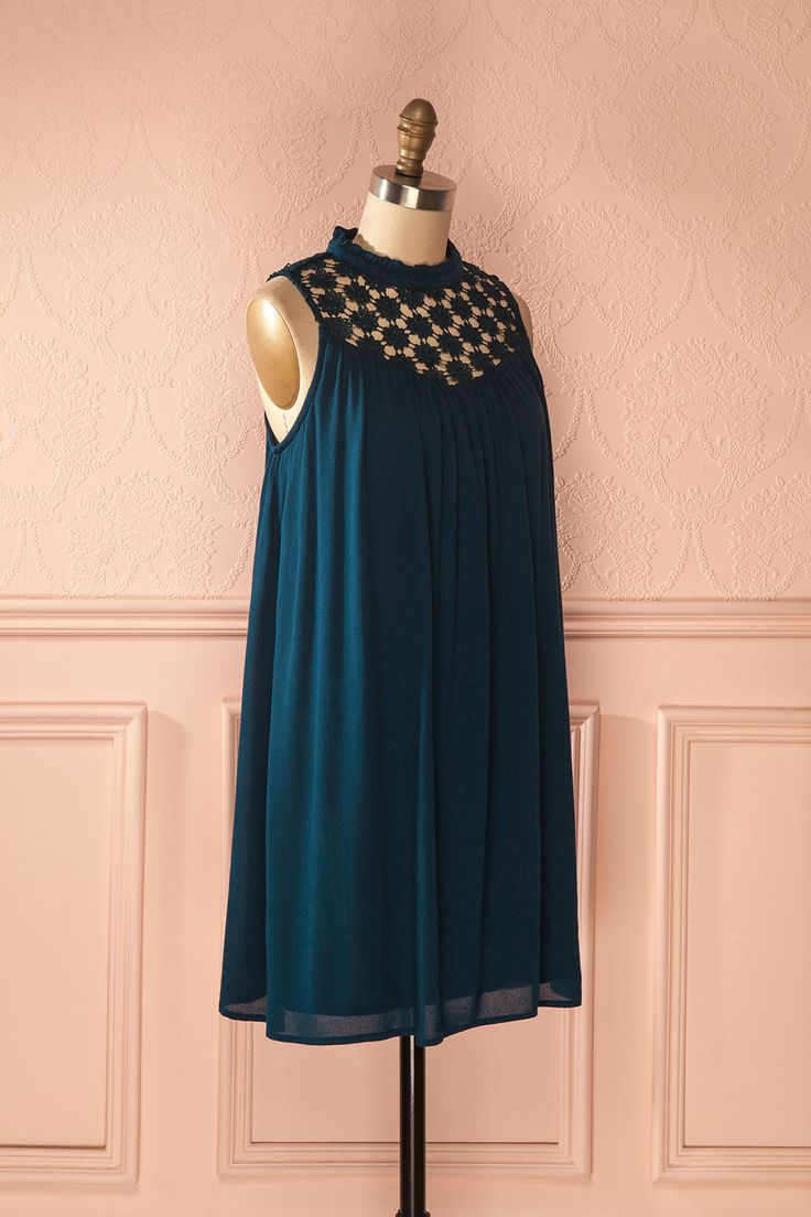Britta Teal - Turquoise shifted dress