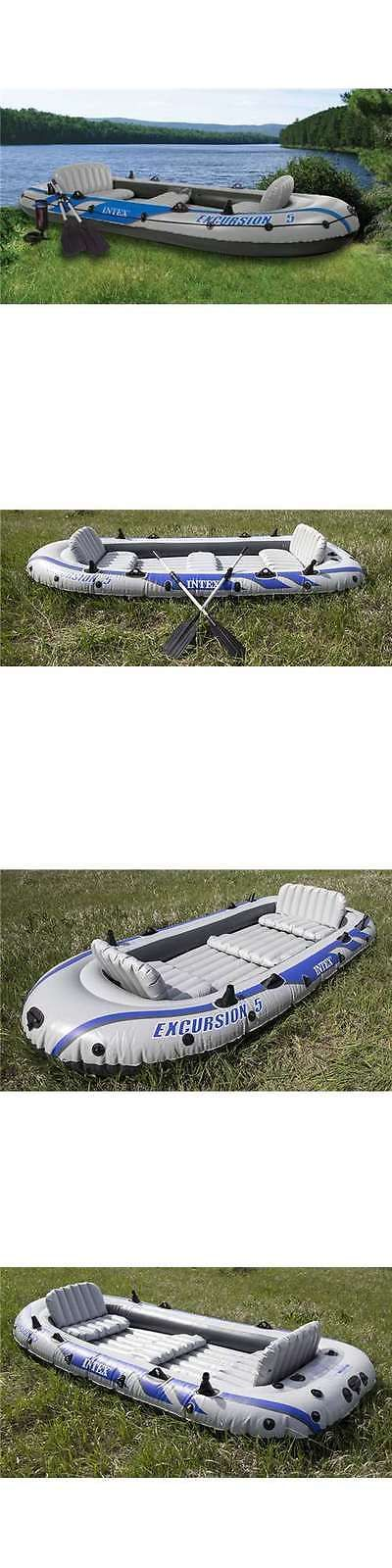 Inflatables 87090: Intex Excursion 5 Inflatable Rafting Fishing Dinghy Boat Set (Open Box) -> BUY IT NOW ONLY: $108.95 on eBay!