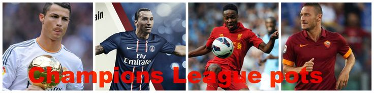 Who will reign this 2014/2015 Champion's league pots?