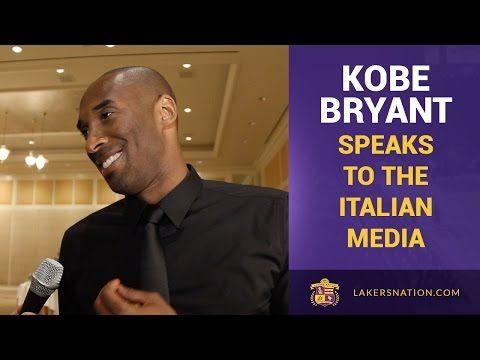 Lakers Kobe Bryant Speaks Fluent Italian - YouTube