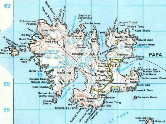 Map of Papa Stour, Shetland, Scotland | Scotland, Orkney and ...