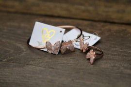 B.Loved Vlinder Ring/ Rose Goud/ 18 KT | Accessoires | MyWalkInCloset