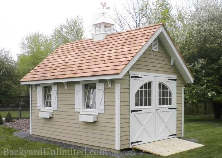 8 best vinyl sided storage sheds in pa images on pinterest for Carriage house shed