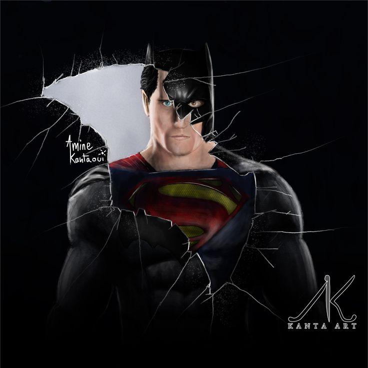 #drawing #superman #batman this is a my new poster of batman v superman
