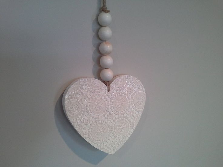 NZ Love lace heart wall hanging $38
