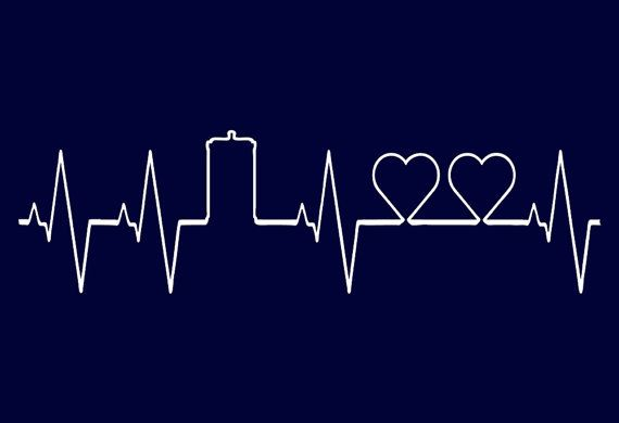 Doctor Who Dr. Who Heart Line Two Heats Tardis Whovian Wholock Tshirt T-shirt Funny Humor Men Ladies Unisex Tee Shirt Present Gift Kids