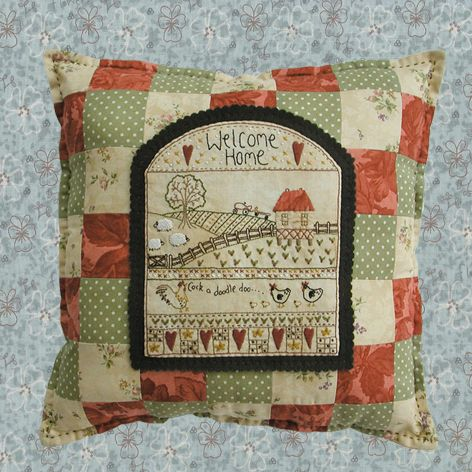 shop category lynette anderson designs product welcome home pillow - Home Design Products Anderson In