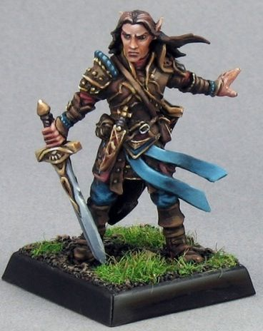 Pathfinder Miniatures: Arael, Half-Elf Cleric i play as an elf named jade in a closed group he is a cleric air animal only level 1