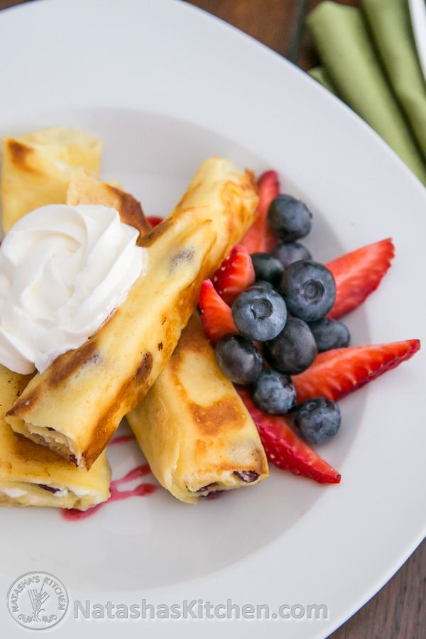 Nalisniki (налесники), cheese blintzes, cheese crepes, blinchiki. This Russian dish has many names, but whatever it's called, it has remained one of the most popular dishes with Vadim and I for breakfast, lunch or a late night snack. There are many ways to make them...