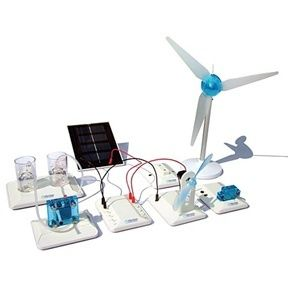 With the Renewable Energy Educational Kit you can create a complete working clean energy system from start to finish. With this revolutionary kit, you will build an entire miniature renewable energy system using water electrolysis and advanced proton exchange membrane technology. Set is modular s...