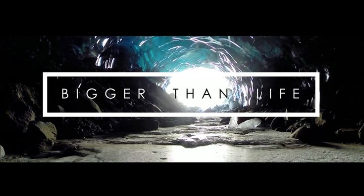Bigger Than Life - Ice Caves segment is the first documented drone flight through ice caves.