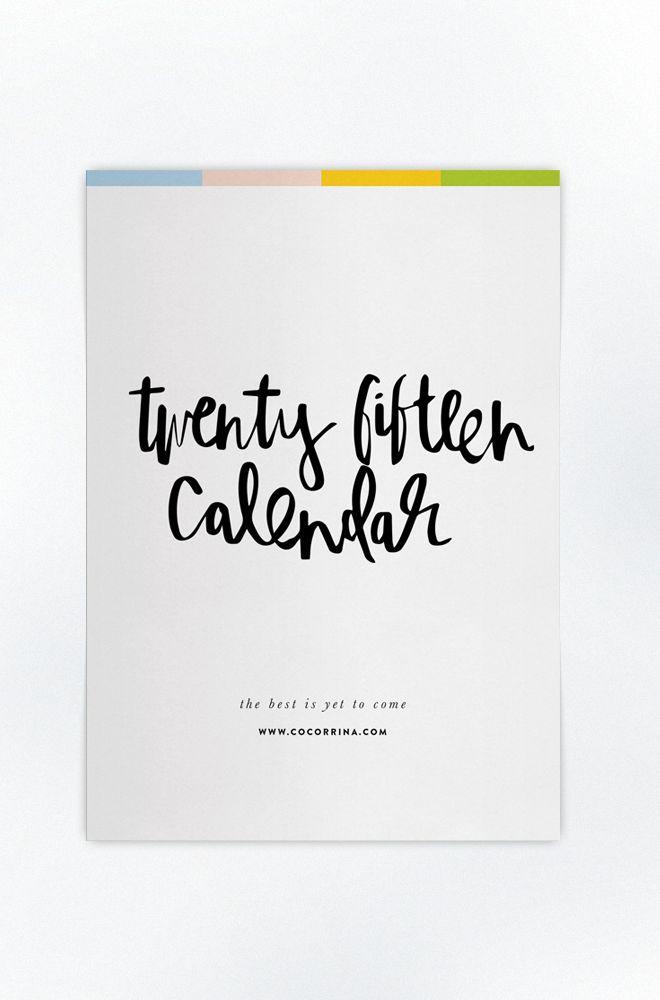 Free printable 2015 Calendar