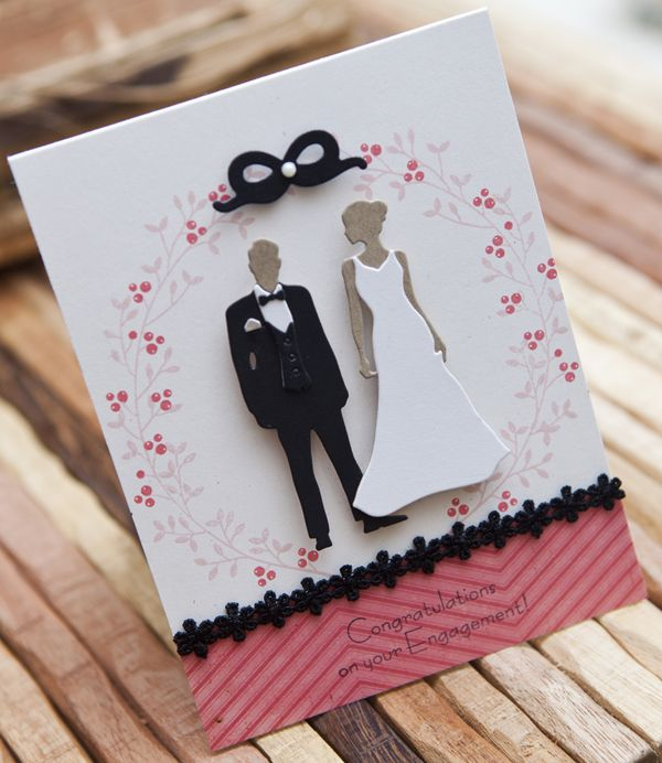 Engagement Congratulations Card by Ashley Cannon Newell for Papertrey Ink (December 2012)