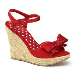 Wedge Sandals Cheap Wedge Shoes Wedge Shoes I don't know what I'd wear these with but I love that red!