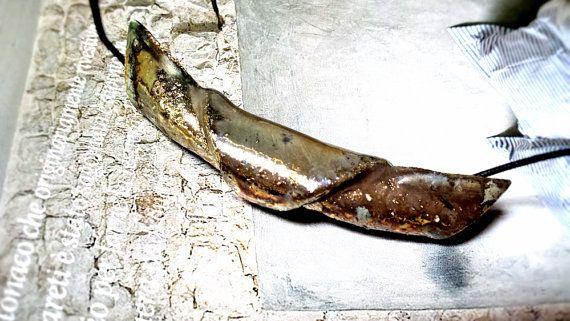 Raku ceramic pendant Vikings boat by MYHOUSEofDESIGN on Etsy