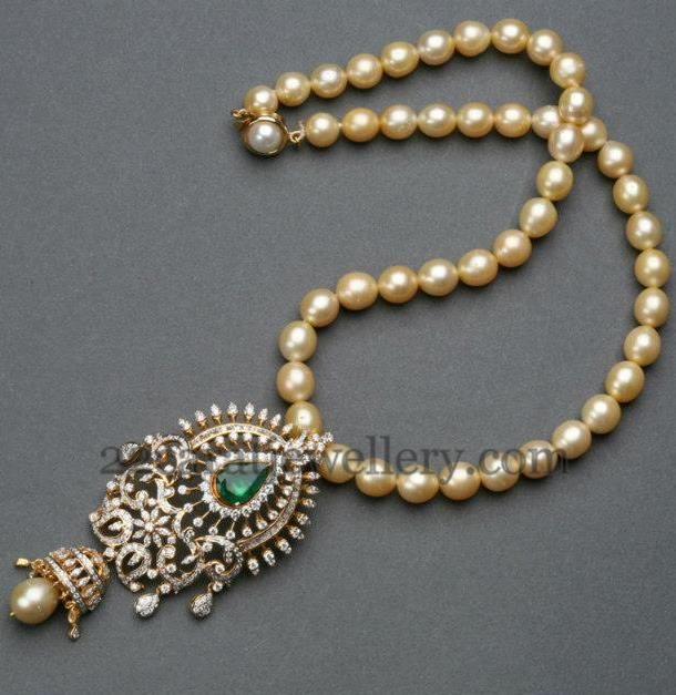 South Pearls Set with Jhumka Locket