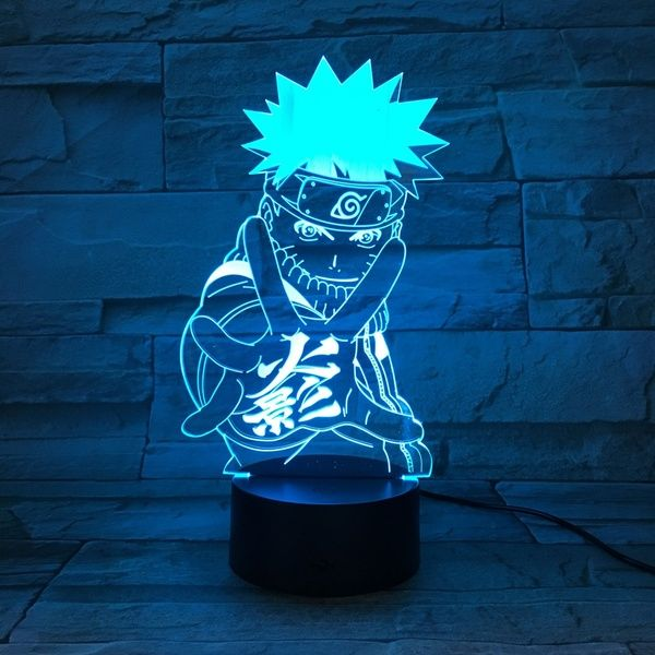 Cartoon Figure Naruto 3d Led Lamp 7 Colors Night Light Christmas Engraved Acrylic Gifts Touch Switches Light Luminaria De Mesa Lampara Wish 3d Led Lamp Night Light Led Night Light