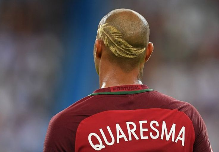 Ricardo #Quaresma #Portugal  Euro 2016 final hair.