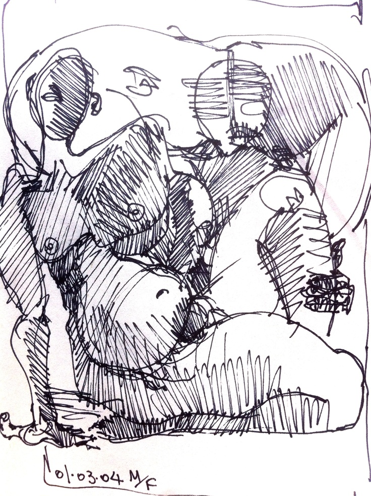 Copertina, 2004 - Matteo Fregonese - ink 10*15 cm #illustration #sketch #drawing #art
