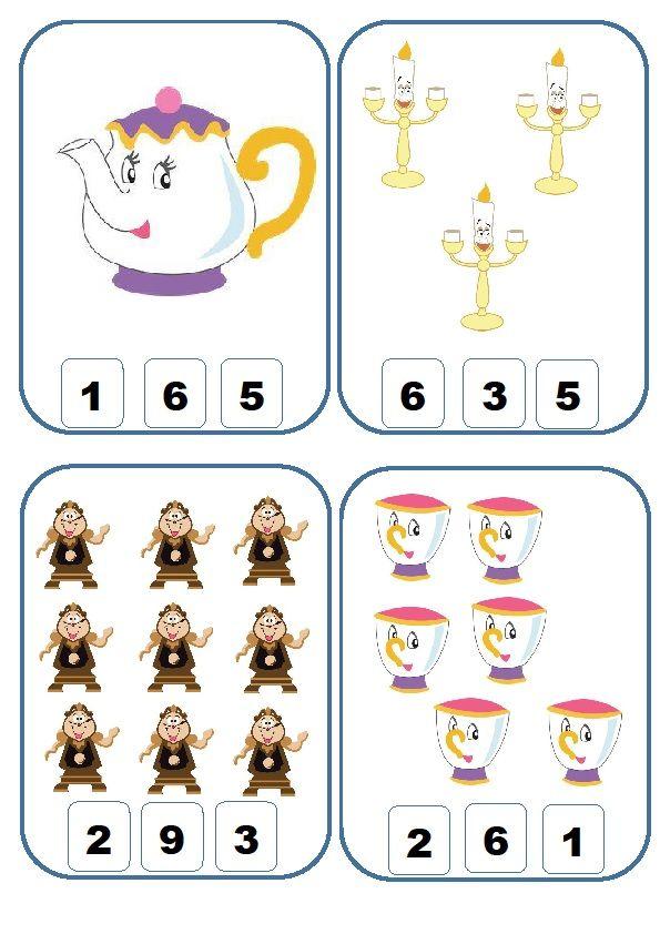Con imágenes extraídas de PINTEREST hemos creado nuestras tarjetas para trabajar la asociación del número con la cantidad que representa. U...