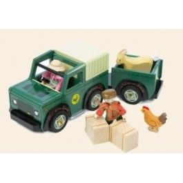 Le toy van jeep. Met aanhangwagen