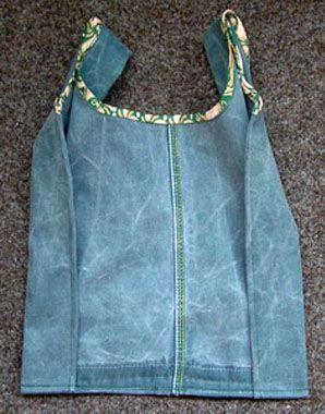 Эко-сумка из старых джинс. Эко-сумка своими руками. Выкройка сумки.