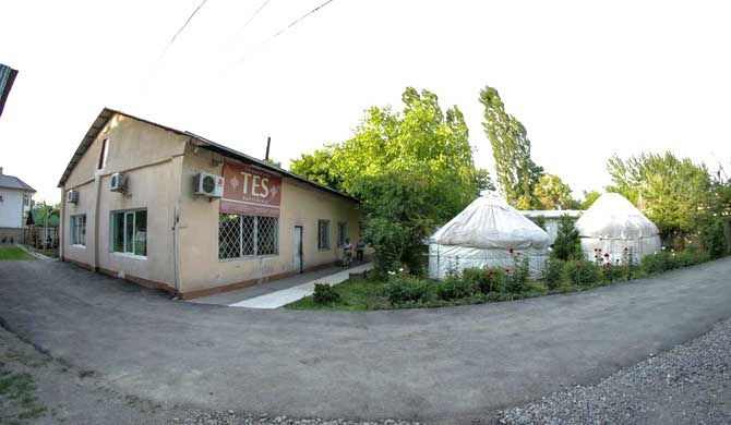 Tes Guest House Tes Guest House is located along the river Ak-Buura in Osh, Kyrgyzstan. The guest house offers a summer swimming pool and one of the biggest public tennis courts in Osh. Its about 10 minutes drive... #Campsites #GuestHouses #Hostels  #Travel #Backpackers #Accommodation #Budget