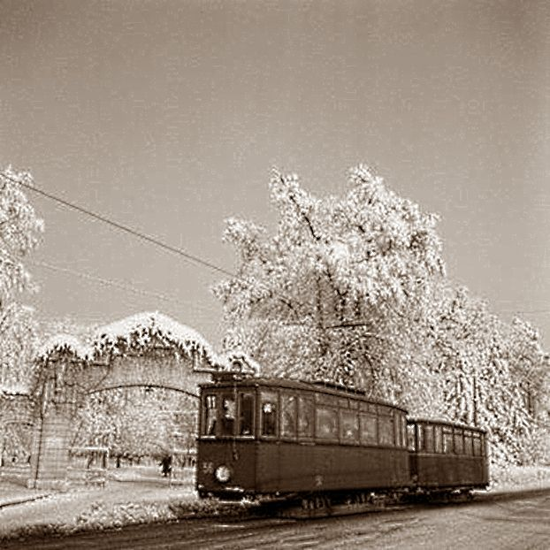 Zagreb - 1940-tih - Maksimir - tramvaj