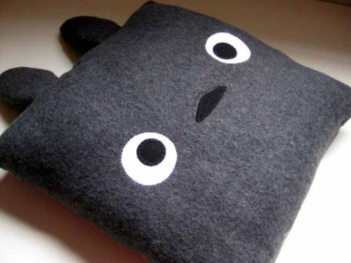 Kawaii PILLOW - TOTORO cute animal plush soft   HappiBoshi - Housewares on ArtFire