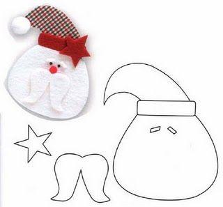 Manualidades Navidad Goma Eva con moldes, papá Noel