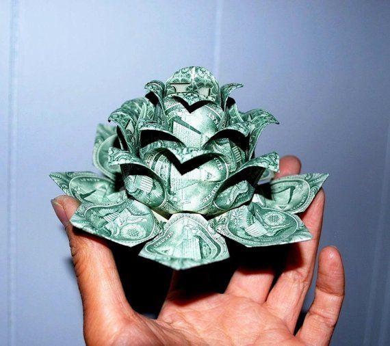 water lily graduation Gift origami lotus dollar bill flower holiday money flower Christmas lotus flower money lotus