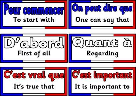 Set of Free French Core Vocabulary cards covering a range of subjects.