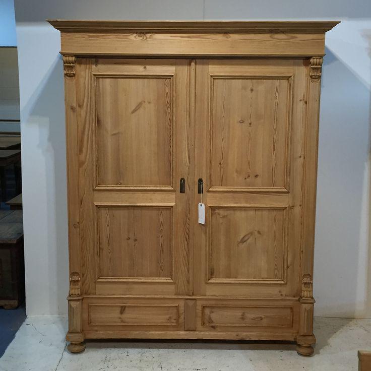 A Large, Low Antique Pine Wardrobe (T7102E)