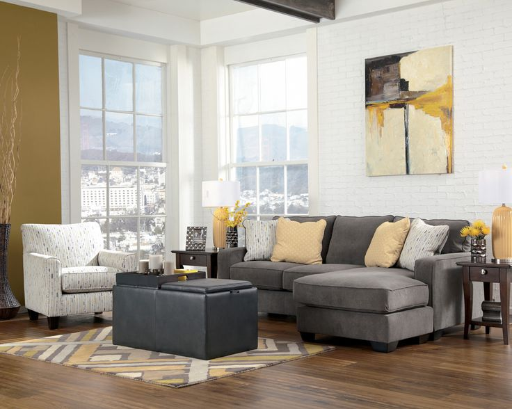 Grey Sectional With Accent Chair For Mi Casa Pinterest