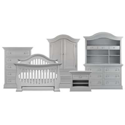 gray nursery furniture. baby appleseed davenport nursery furniture collection in moon grey buybuybabycom gray