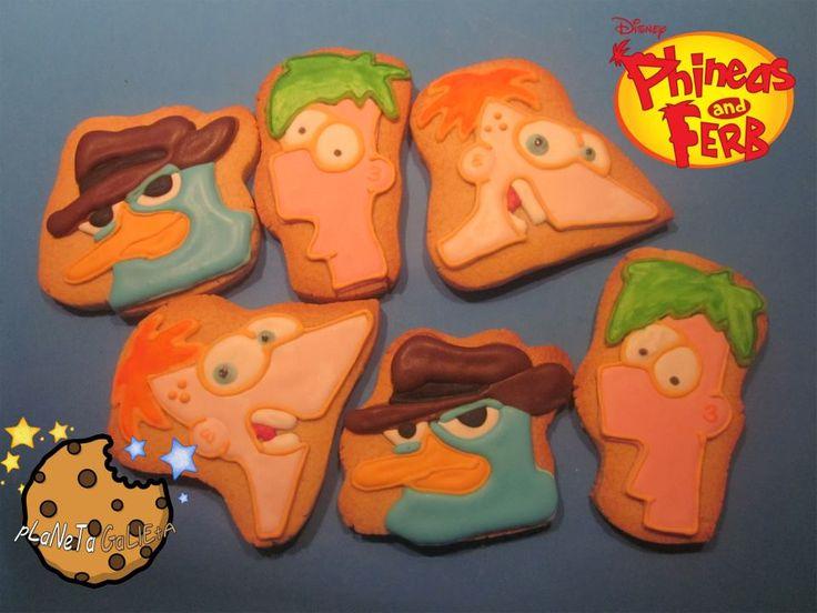 Galletas Phineas y Ferb.