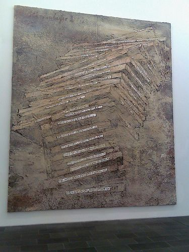 Anselm Kiefer / Sternen-lager II (Stores for the stars, or Star-camp), 1998 / mixed media painting / Museum Küppersmühle für Moderne Kunst, Duisburg.