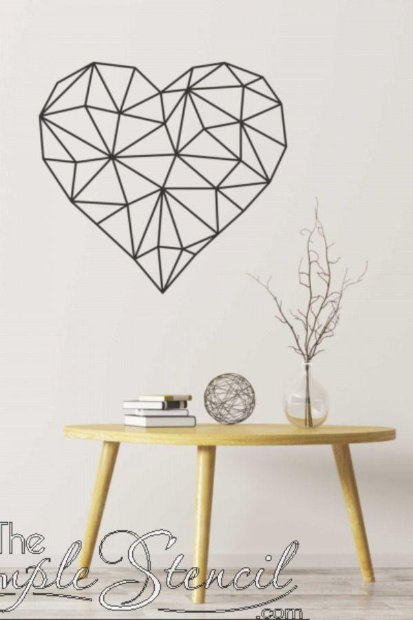 Wall Decal Choice of Colour Heart Shape Wall Sticker