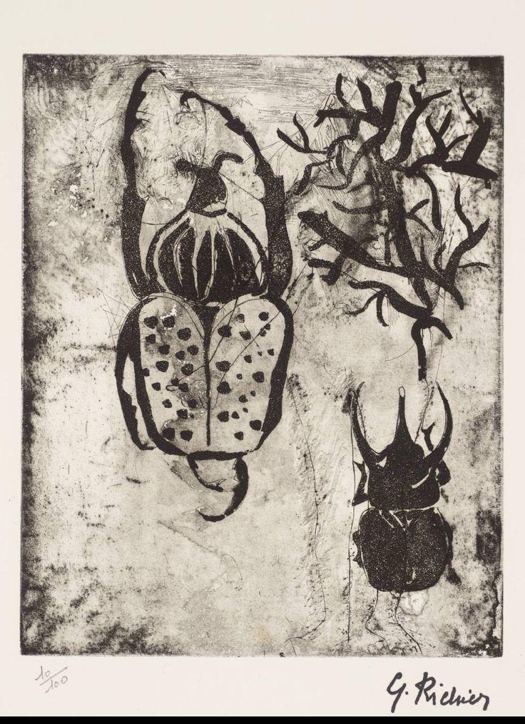 Germaine Richier: Beetles, 1948-51 - etching and aquatint